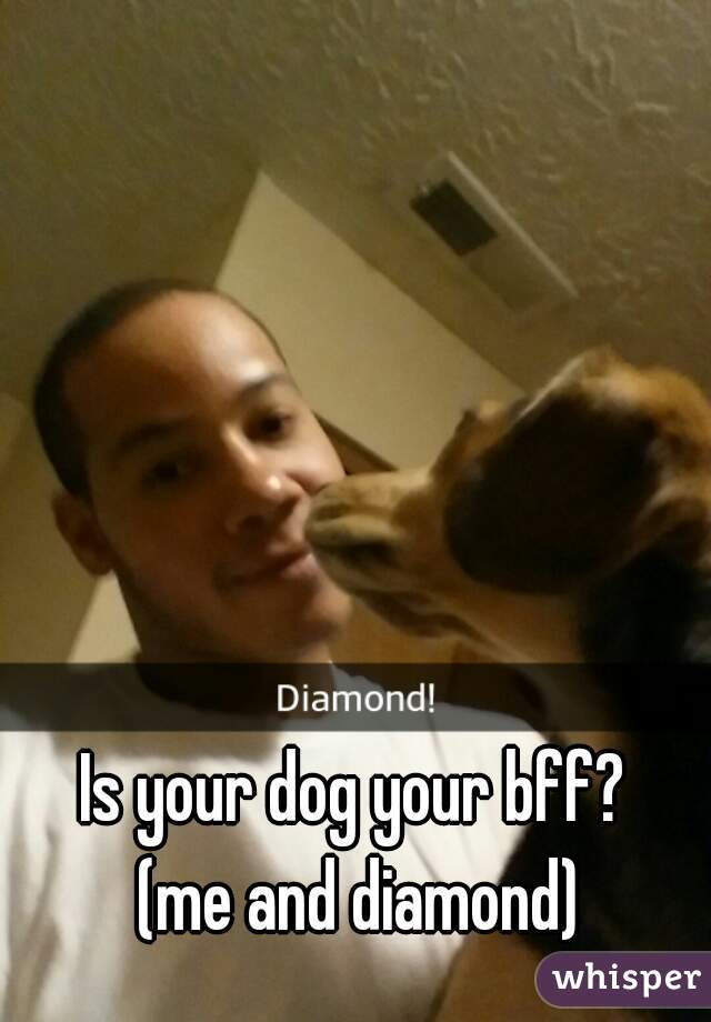 Is your dog your bff?  (me and diamond)