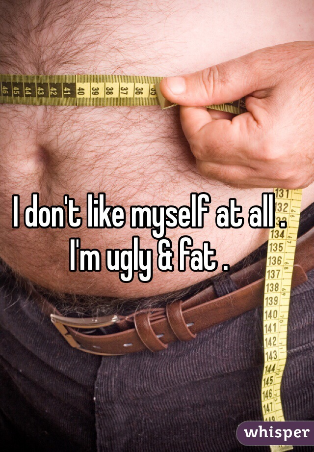 I don't like myself at all . I'm ugly & fat .