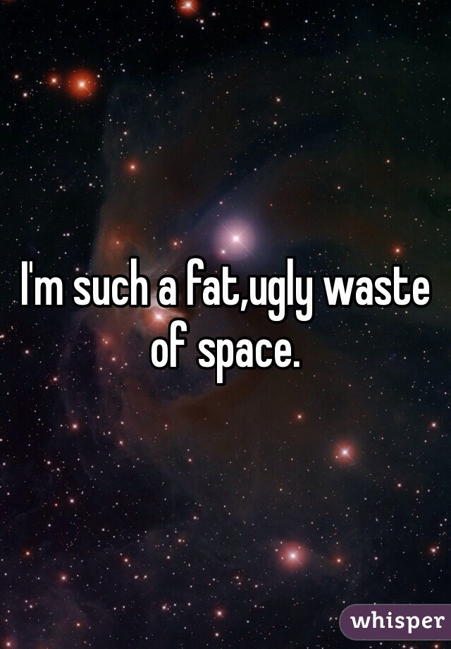 I'm such a fat,ugly waste of space.