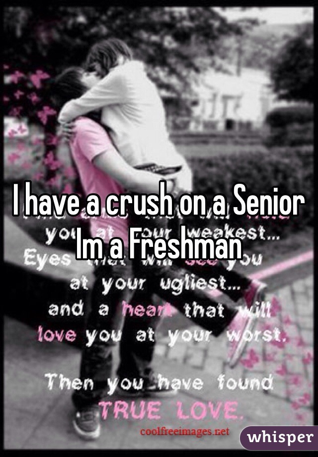 I have a crush on a Senior Im a Freshman
