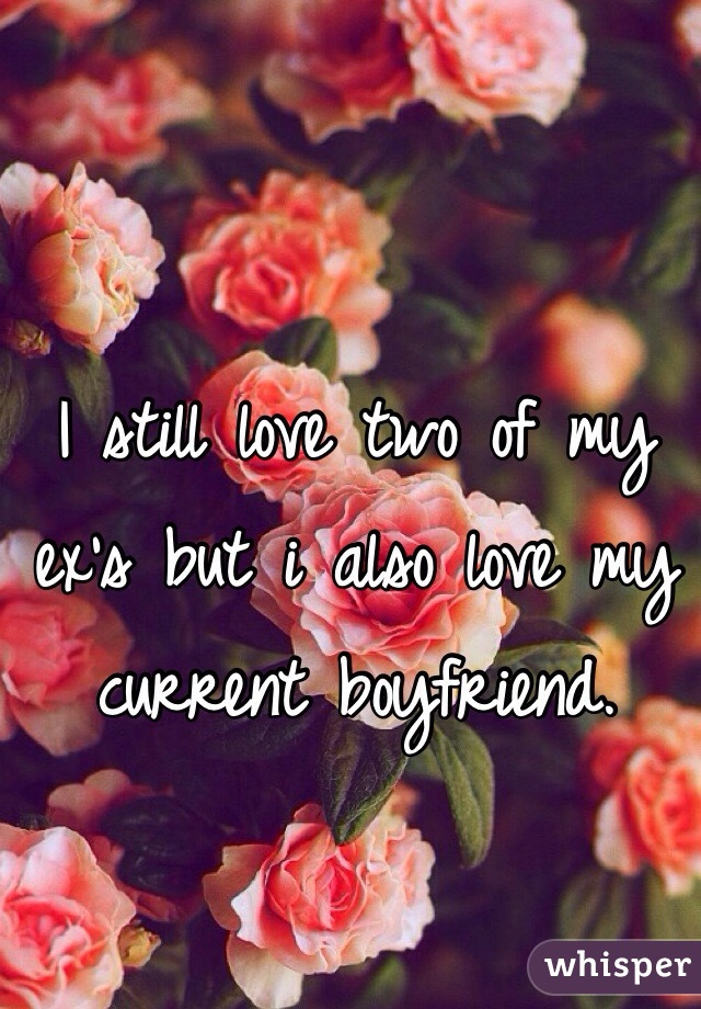 I still love two of my ex's but i also love my current boyfriend.