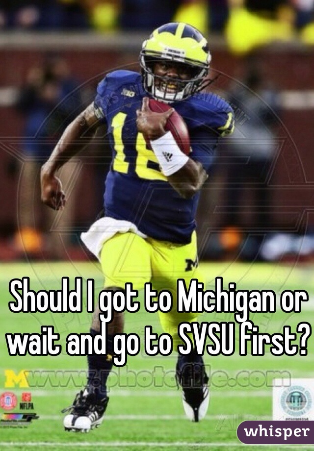 Should I got to Michigan or wait and go to SVSU first?