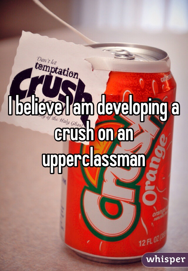I believe I am developing a crush on an upperclassman