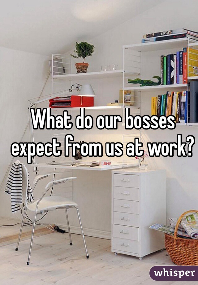 What do our bosses expect from us at work?