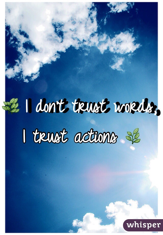 🌿 I don't trust words, I trust actions 🌿