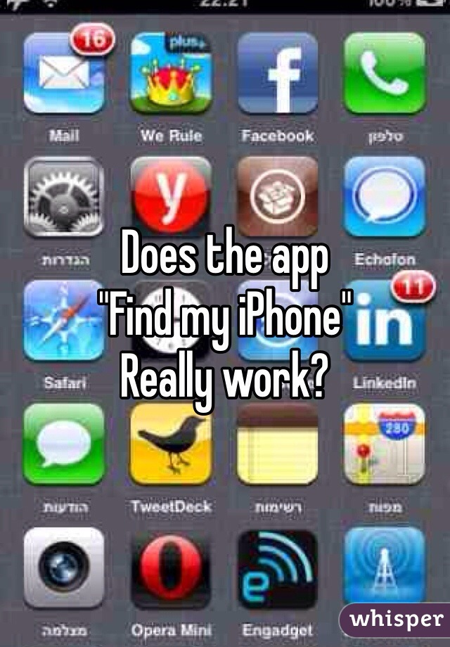 """Does the app """"Find my iPhone"""" Really work?"""