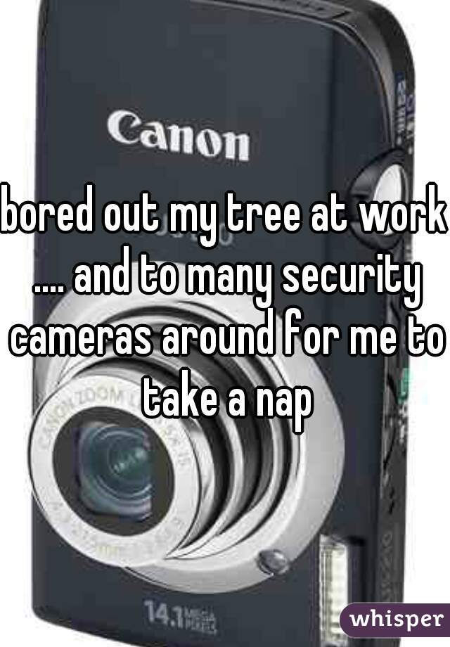 bored out my tree at work .... and to many security cameras around for me to take a nap