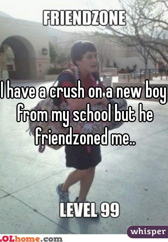I have a crush on a new boy from my school but he friendzoned me..