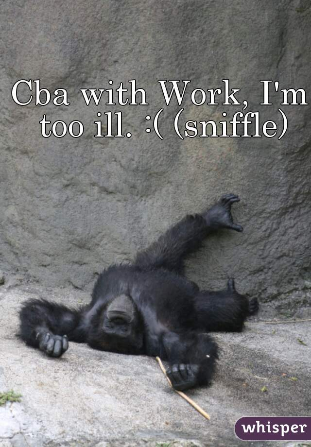 Cba with Work, I'm too ill. :( (sniffle)