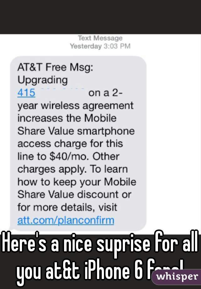 Here's a nice suprise for all you at&t iPhone 6 fans!