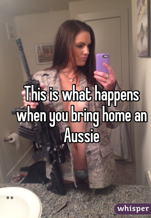 This is what happens when you bring home an Aussie
