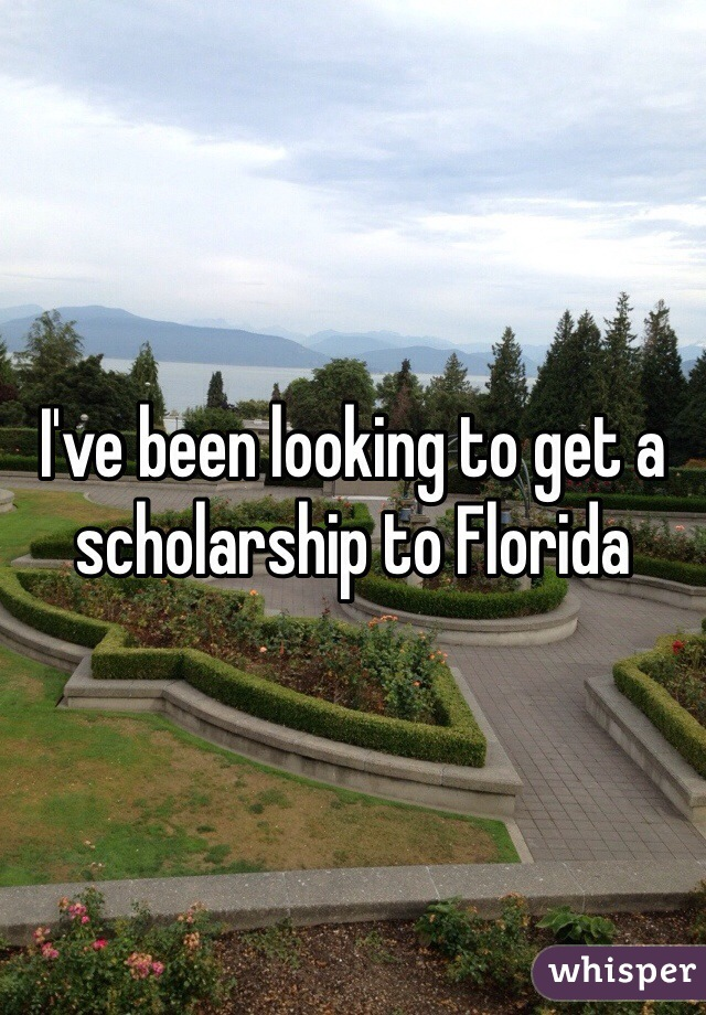 I've been looking to get a scholarship to Florida
