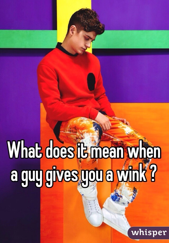 What does it mean when a guy gives you a wink ?