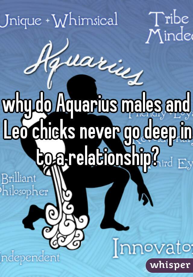 why do Aquarius males and Leo chicks never go deep in to a relationship?