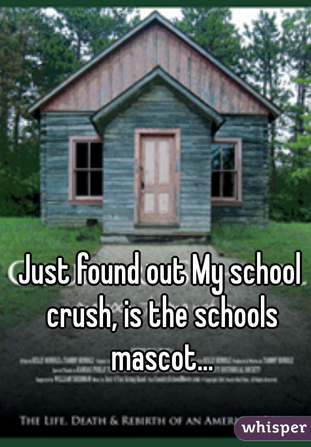 Just found out My school crush, is the schools mascot...