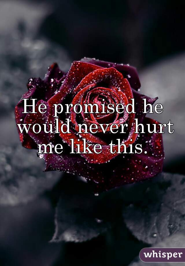 He promised he would never hurt me like this.