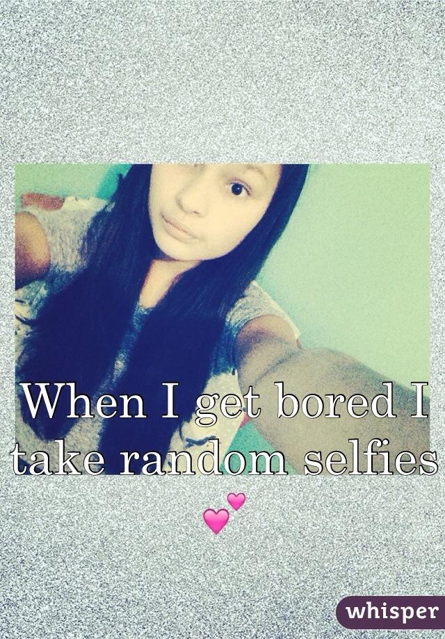 When I get bored I take random selfies 💕