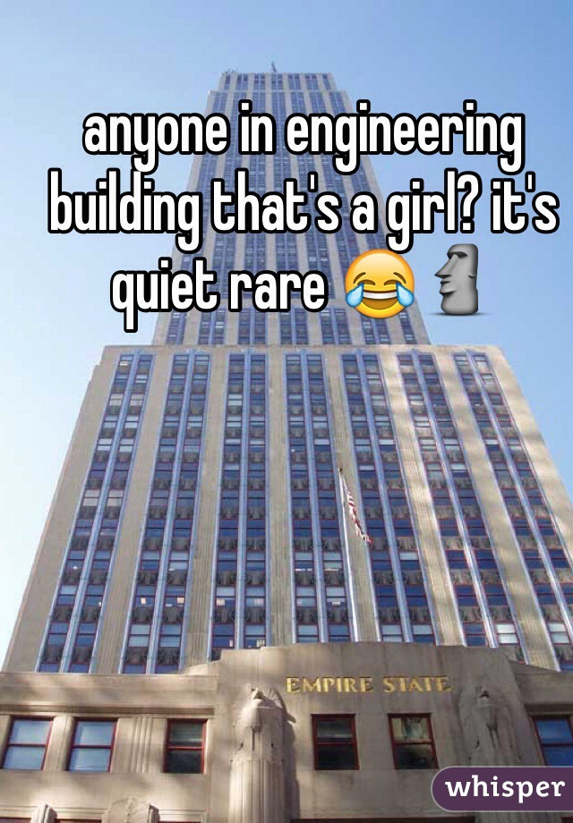 anyone in engineering building that's a girl? it's quiet rare 😂🗿