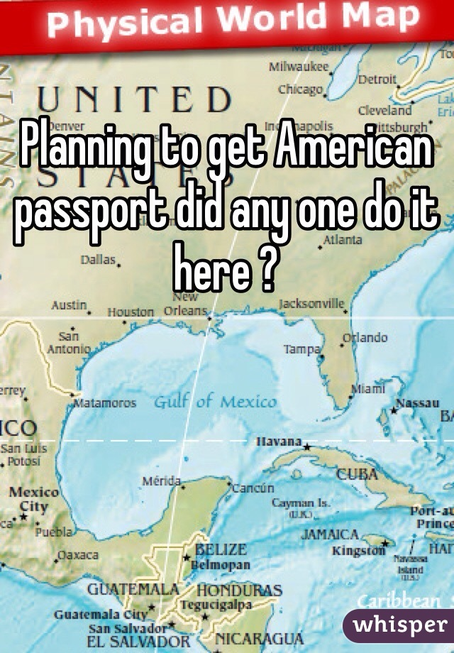 Planning to get American passport did any one do it here ?