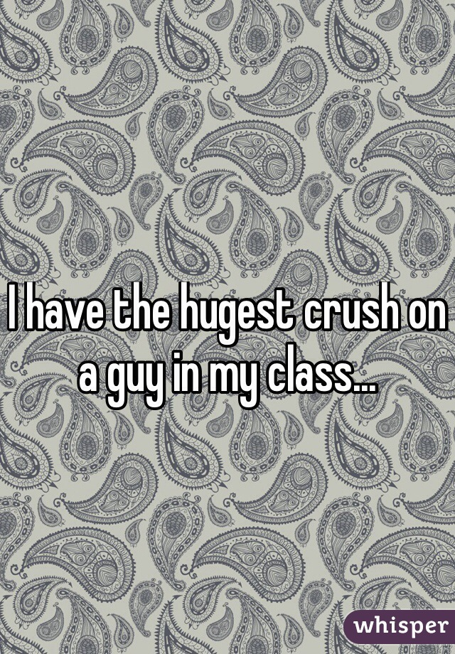 I have the hugest crush on a guy in my class...