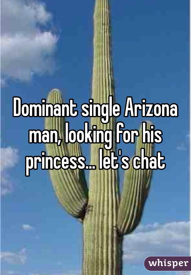 Dominant single Arizona man, looking for his princess... let's chat