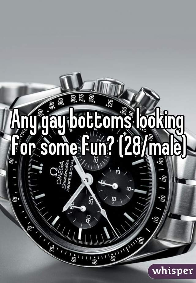 Any gay bottoms looking for some fun? (28/male)