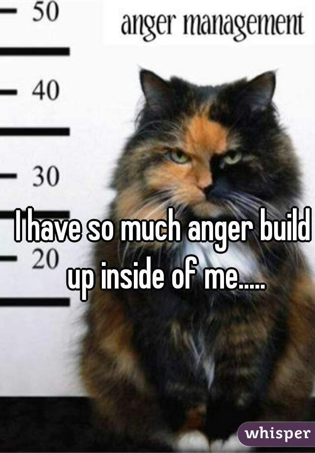 I have so much anger build up inside of me.....