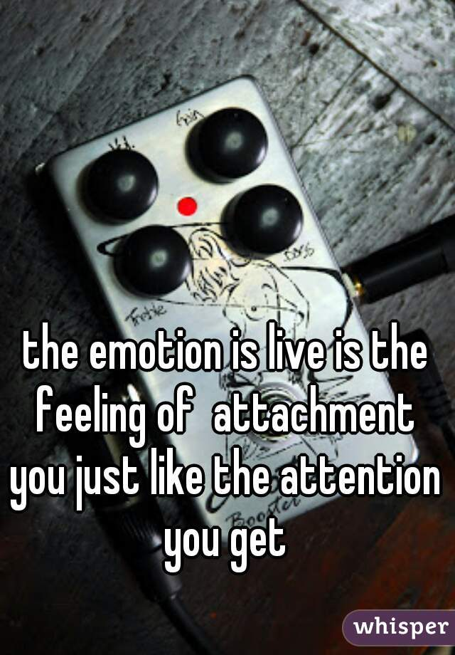 the emotion is live is the feeling of  attachment  you just like the attention you get