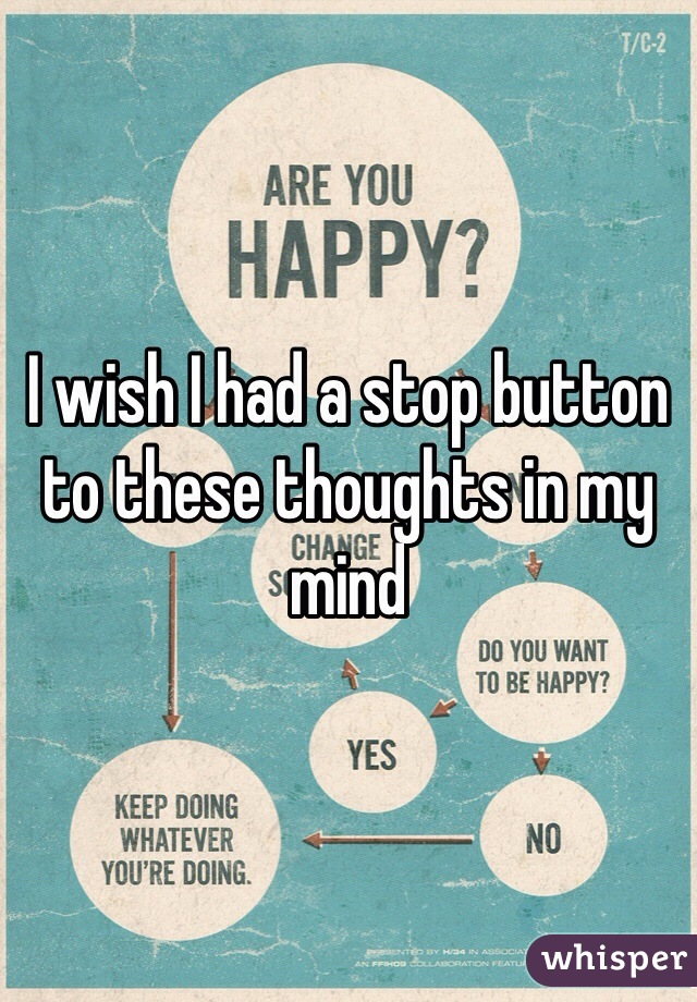 I wish I had a stop button to these thoughts in my mind