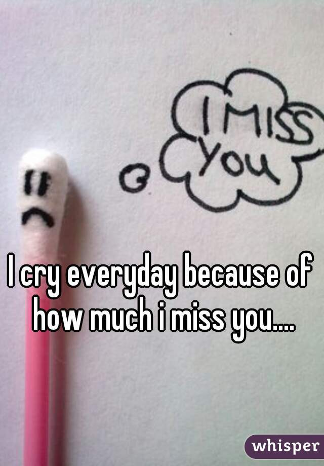 I cry everyday because of how much i miss you....