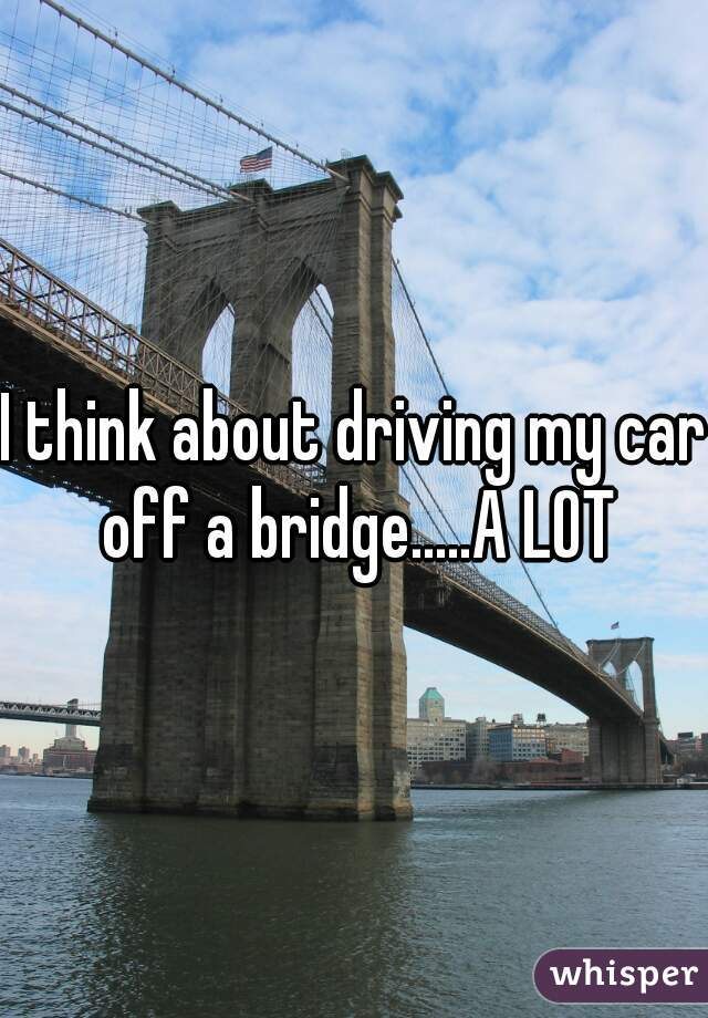 I think about driving my car off a bridge.....A LOT