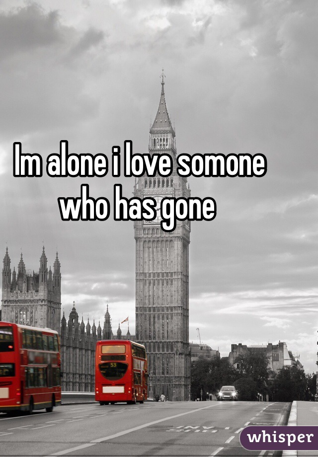 Im alone i love somone who has gone