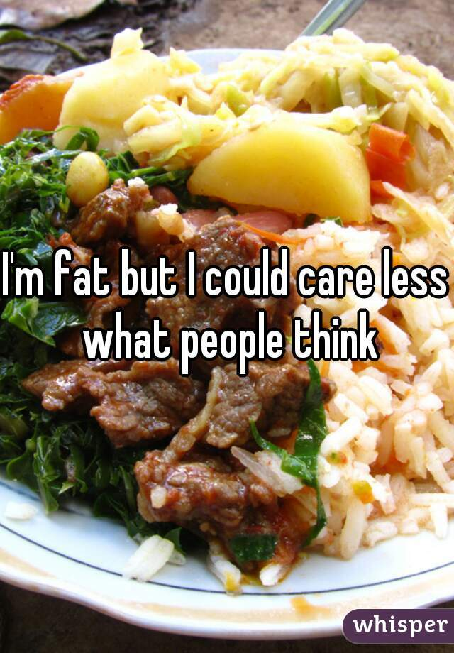 I'm fat but I could care less what people think