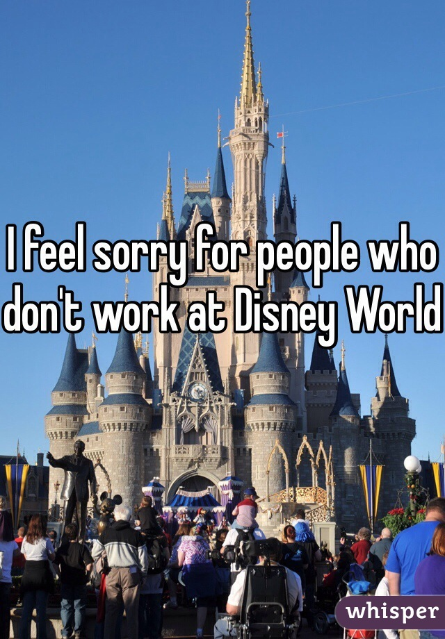 I feel sorry for people who don't work at Disney World