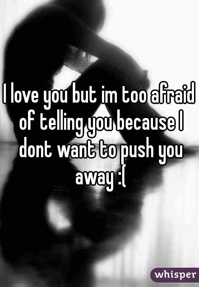 I love you but im too afraid of telling you because I dont want to push you away :(