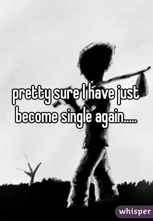 pretty sure I have just become single again.....