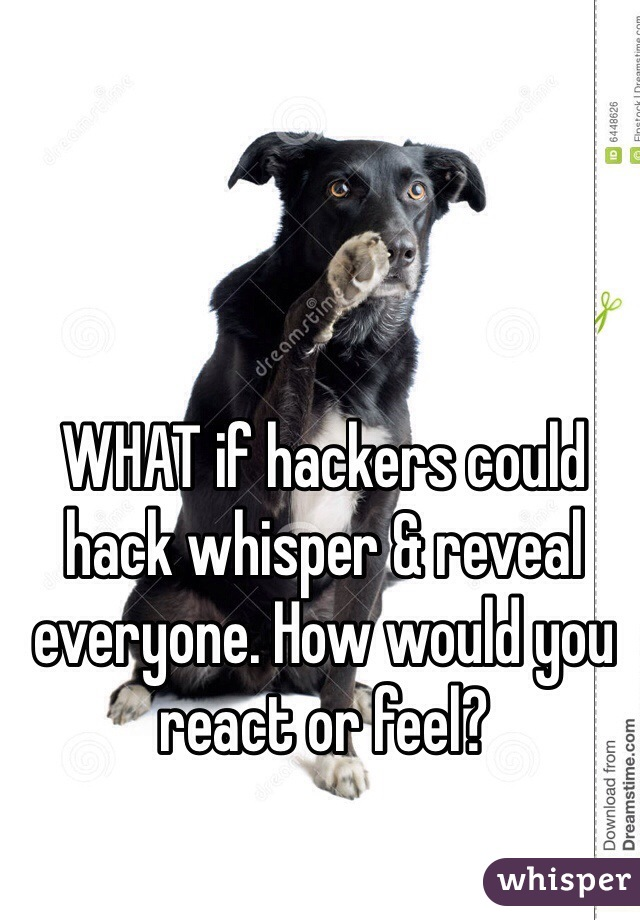 WHAT if hackers could hack whisper & reveal everyone. How would you react or feel?