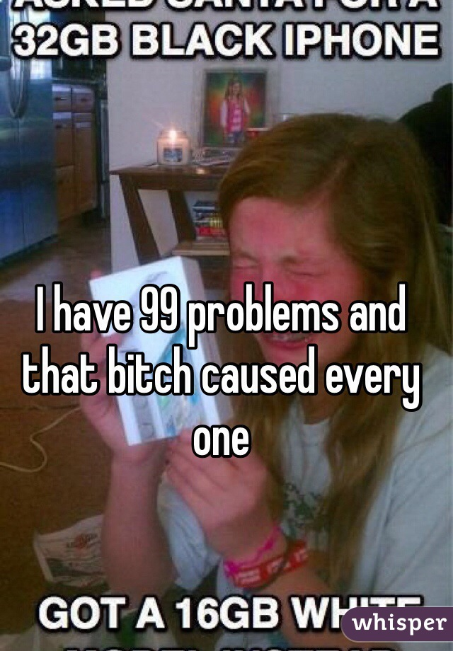 I have 99 problems and that bitch caused every one