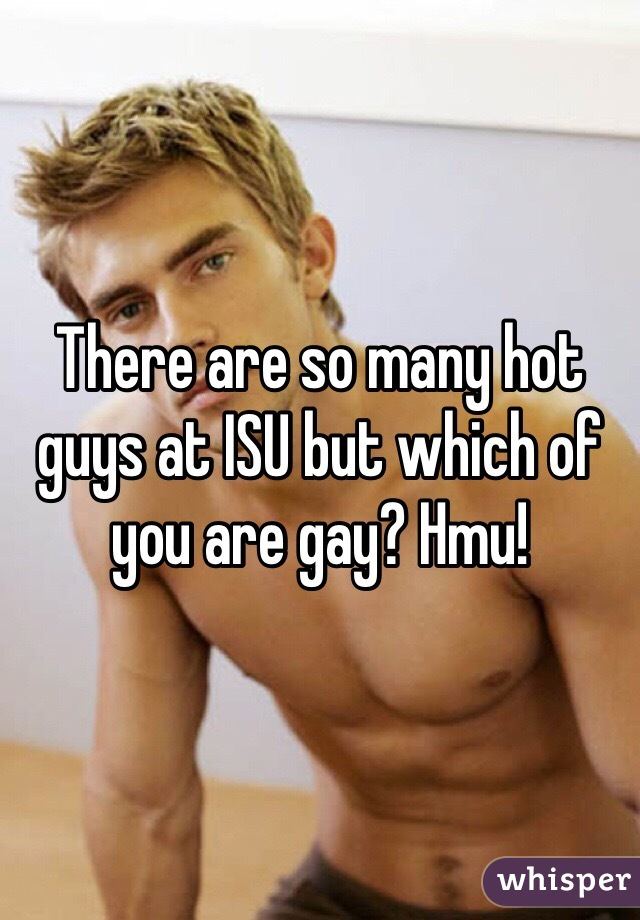 There are so many hot guys at ISU but which of you are gay? Hmu!