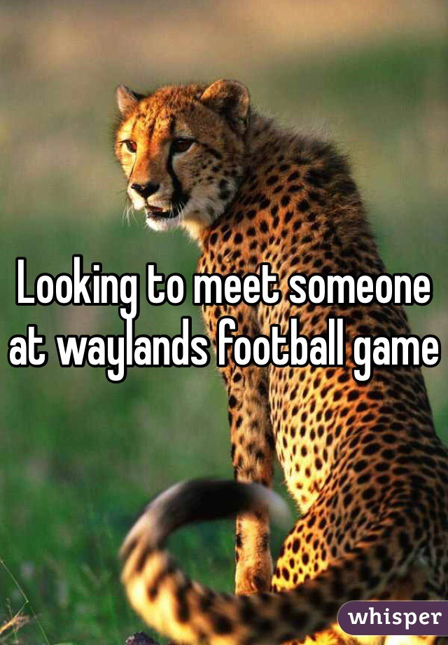 Looking to meet someone at waylands football game