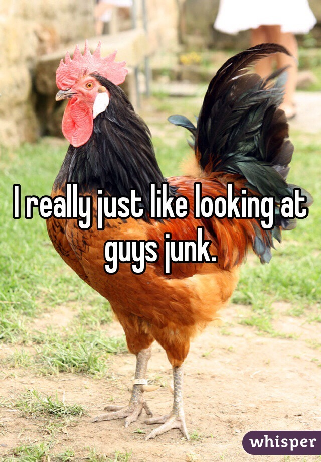 I really just like looking at guys junk.