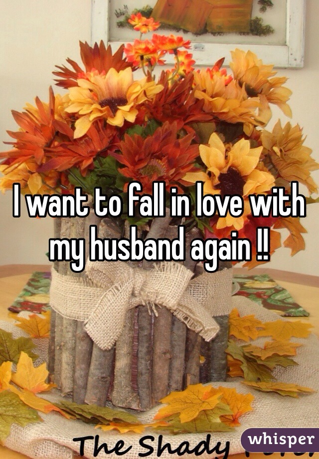I want to fall in love with my husband again !!
