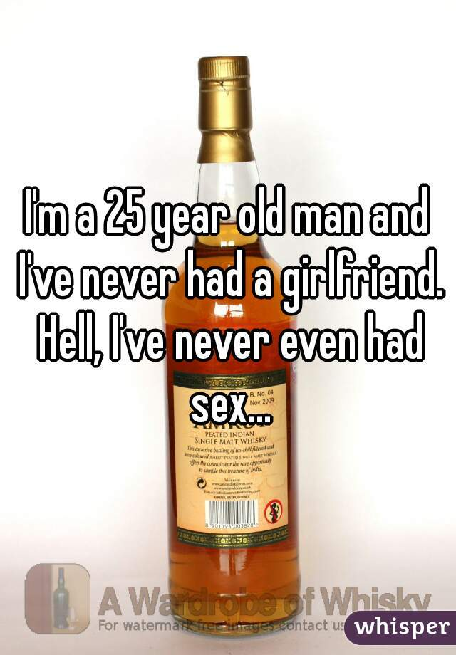 I'm a 25 year old man and I've never had a girlfriend. Hell, I've never even had sex...