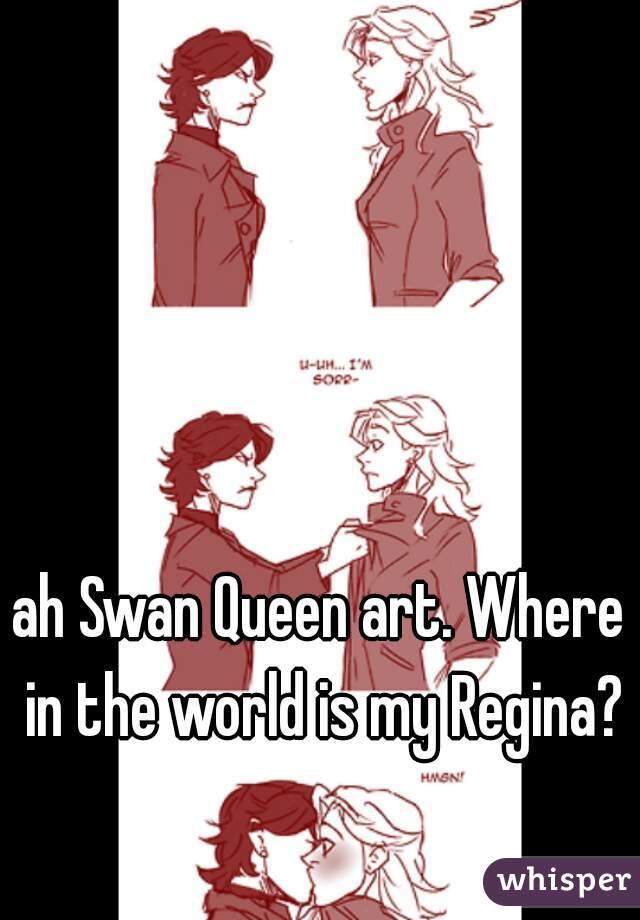 ah Swan Queen art. Where in the world is my Regina?