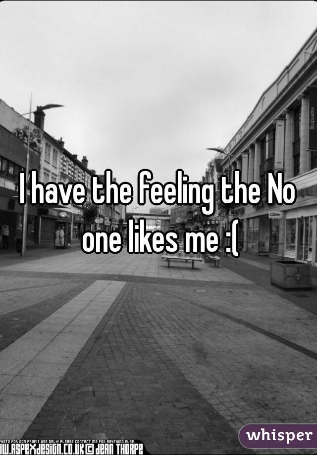 I have the feeling the No one likes me :(