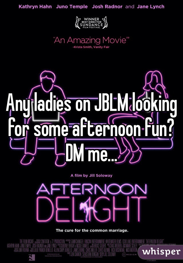 Any ladies on JBLM looking for some afternoon fun? DM me...