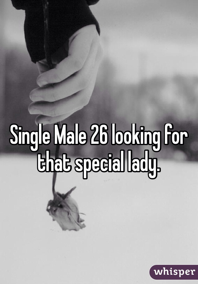 Single Male 26 looking for that special lady.