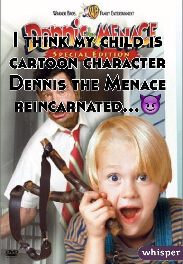I think my child is  cartoon character Dennis the Menace reincarnated...😈