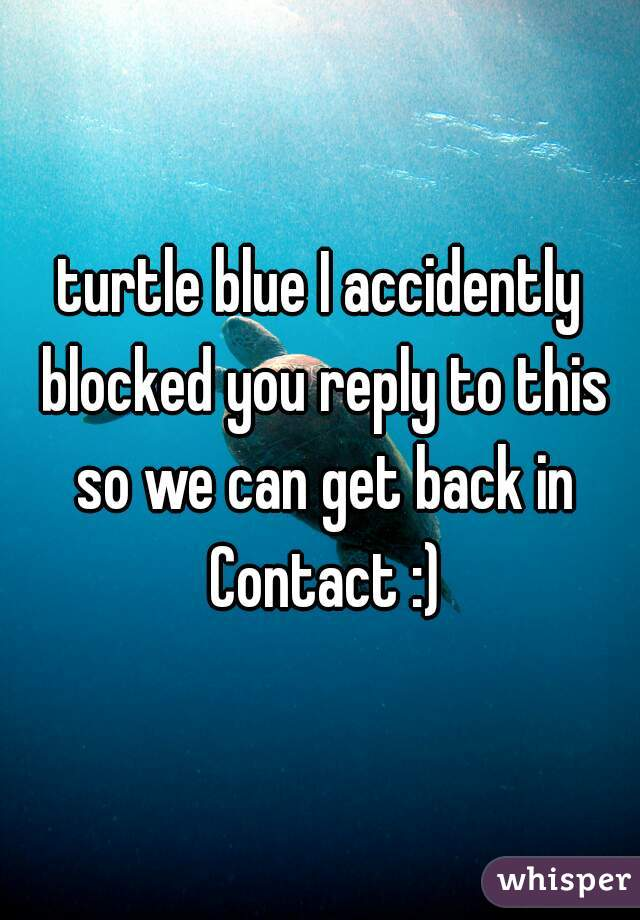turtle blue I accidently blocked you reply to this so we can get back in Contact :)