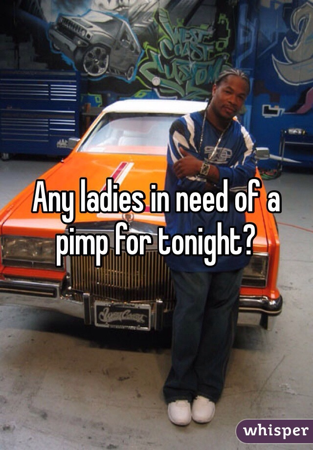 Any ladies in need of a pimp for tonight?